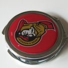 Ottawa Senators Ladies Compact Mirror w/Floral Design