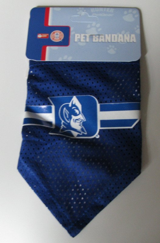 Duke University Blue Devils Pet Dog Football Jersey Bandana S/M