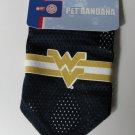 West Virginia University Mountaineers Pet Dog Football Jersey Bandana S/M