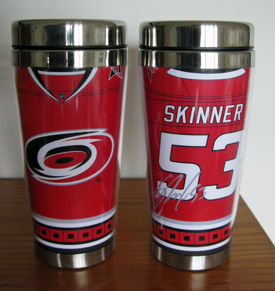 Jeff Skinner Carolina Hurricanes 16oz Travel Tumbler Mug