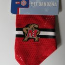 Maryland University Terrapins Pet Dog Football Jersey Bandana M/L