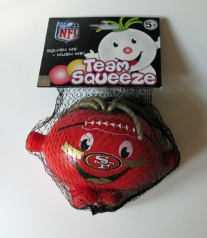 San Francisco 49ers Team Squeeze Squishy Stress Ball Football