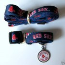 Boston Red Sox Pet Dog Leash Set Collar ID Tag XS