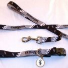 Chicago White Sox Pet Dog Leash Set Collar ID Tag XS