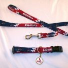 St. Louis Cardinals Pet Dog Leash Set Collar ID Tag XS