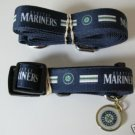 Seattle Mariners Pet Dog Leash Set Collar ID Tag XS