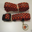 Cleveland Browns Pet Dog Leash Set Collar ID Tag XS