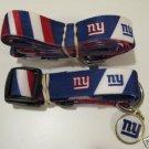 New York Giants Pet Dog Leash Set Collar ID Tag XS