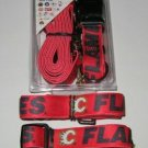 Calgary Flames Pet Dog Leash Set Collar ID Tag XS