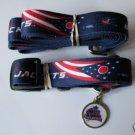 Columbus Blue Jackets Pet Dog Leash Set Collar ID Tag XS
