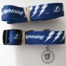 Tampa Bay Lightning Pet Dog Leash Set Collar ID Tag XS