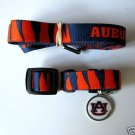 Auburn University Tigers Pet Dog Leash Set Collar ID Tag XS