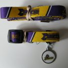 East Carolina University Pirates Pet Dog Leash Set Collar ID Tag XS