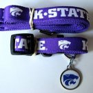 Kansas State Wildcats Pet Dog Leash Set Collar ID Tag XS