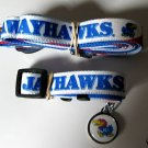 Kansas University Jayhawks Pet Dog Leash Set Collar ID Tag XS
