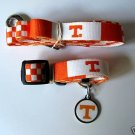 Tennessee University Volunteers Pet Dog Leash Set Collar ID Tag XS