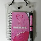 "Chicago Bears ""Love My"" Pink 4x6 Notebook and Pen Set"