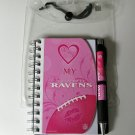 "Baltimore Ravens ""Love My"" Pink 4x6 Notebook and Pen Set"