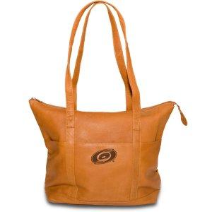 Carolina Hurricanes Leather Tote Bag Purse Tan