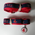 Boston Red Sox Premium Pet Set Dog Leash Collar ID Tag Small