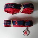 Boston Red Sox Premium Pet Set Dog Leash Collar ID Tag Medium