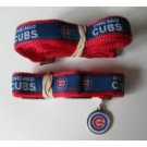 Chicago Cubs Premium Pet Set Dog Leash Collar ID Tag Medium