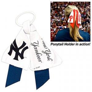 New York Yankees Littlearth Ponytail Holder Hair Tie Ribbon Cute
