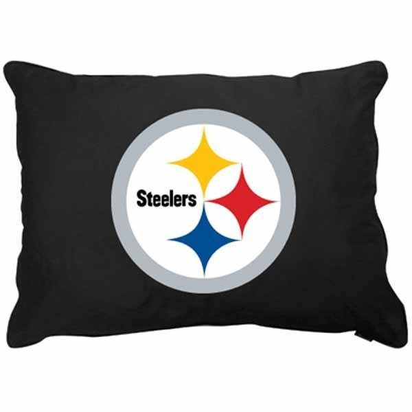 """Pittsburgh Steelers 27"""" x 36"""" Plush Pet Dog Bed or Large Pillow"""