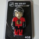 Chicago Blackhawks Hockey Player 4GB USB Key 2.0 Flash Drive