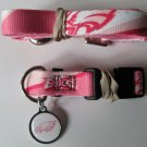 Philadelphia Eagles PINK Pet Set Dog Leash Collar ID Tag XS