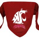 Washington State Cougars Pet Dog Football Jersey Bandana M/L