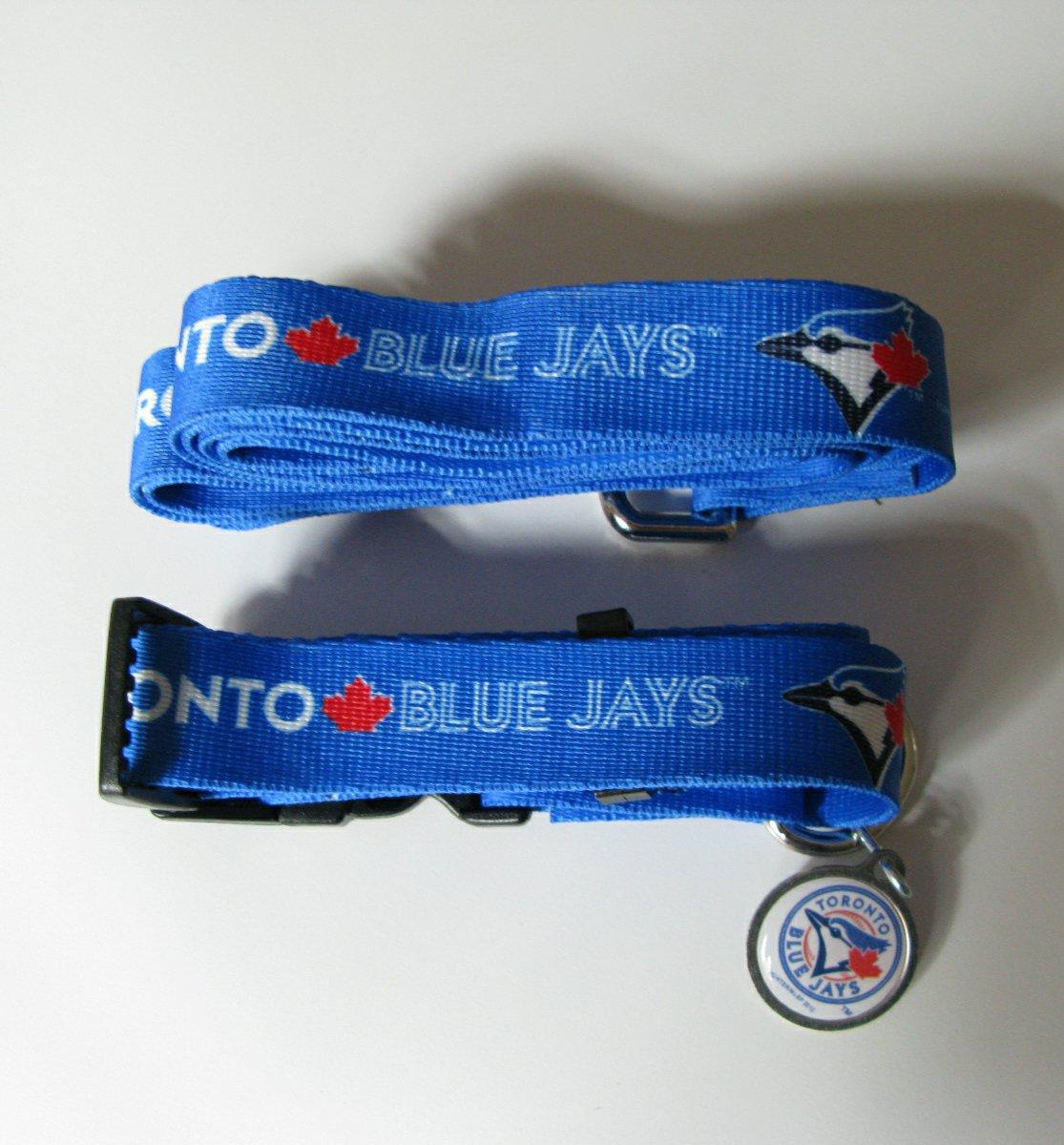 Toronto Blue Jays Pet Dog Leash Set Collar ID Tag Large
