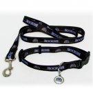 Colorado Rockies Pet Dog Leash Set Collar ID Tag Medium