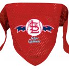 St. Louis Cardinals Pet Dog Baseball Jersey Bandana S/M