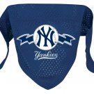 New York Yankees Pet Dog Baseball Jersey Bandana M/L