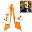 Texas University Longhorns Ponytail Holder Hair Tie Ribbon