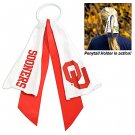 Oklahoma University Sooners Ponytail Holder Hair Tie Ribbon