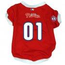 Philadelphia Phillies Pet Dog Baseball Jersey w/Buttons XL