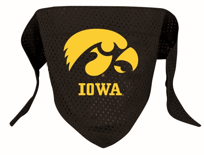 Iowa University Hawkeyes Pet Dog Football Jersey Bandana S/M