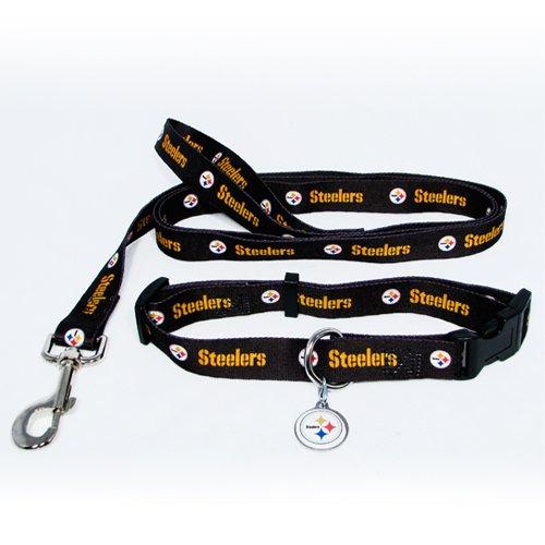 Pittsburgh Steelers Pet Dog Leash Set Collar ID Tag Small