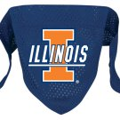 Illinois University Fighting Illini Pet Dog Football Jersey Bandana M/L