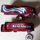 Colorado Avalanche Pet Dog Leash Set Collar ID Tag Large