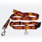Washington Redskins Pet Dog Leash Set Collar ID Tag XS