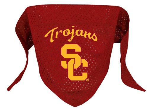 University of Southern California USC Trojans Pet Dog Football Jersey Bandana S/M