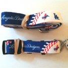 Los Angeles Dodgers Pet Dog Leash Set Collar ID Tag Medium