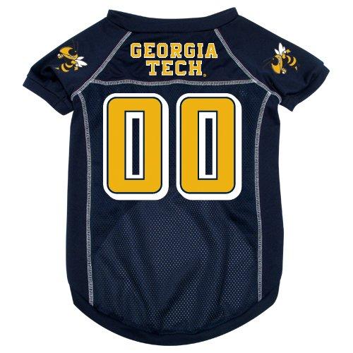 Georgia Tech University Yellow Jackets Pet Dog Football Jersey XL