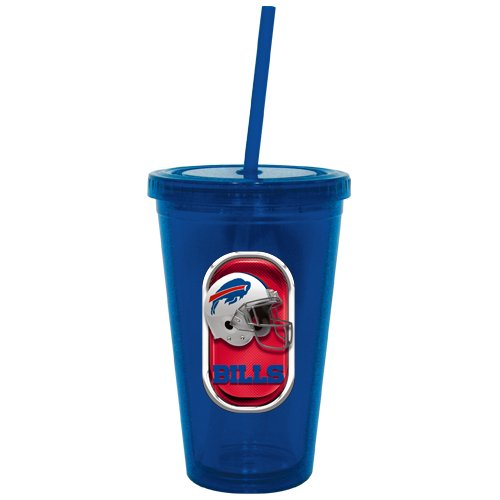 Buffalo Bills 16oz Travel Cup Tumbler w/Straw No Spill Lid Color