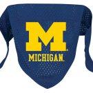 Michigan University Wolverines Pet Dog Football Jersey Bandana S/M