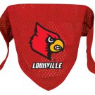 Louisville University Cardinals Pet Dog Football Jersey Bandana M/L