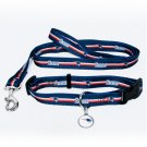 New England Patriots Pet Dog Leash Set Collar ID Tag Small